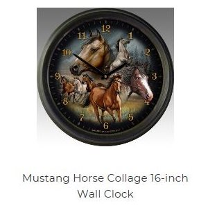 "16"" Wall Clocks Mustang Collage"