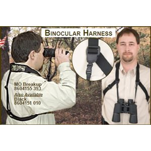 Black Neoprene Binocular Strap with Body Harness and Detacha